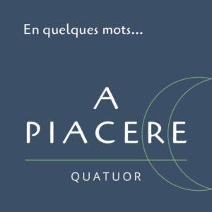 "A Piacere ""En quelques mots…"" EP"